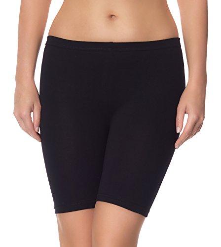 Ladeheid Damen Shorts Radlerhose Unterhose Hotpants Kurze Hose Boxershorts LAMA04 (Schwarz13, 4XL/5XL)