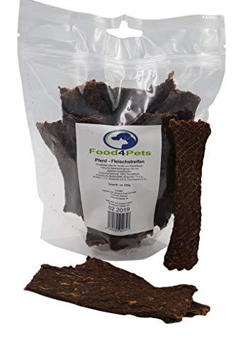 Food4Pets Fleischstreifen für Hunde aus Pferdefleisch 250g – leckere Kaustreifen für Hunde