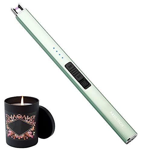 ARECTECH Lighter Electric Lighter Candle Lighter Rechargeable USB Lighter Plasma Arc Lighters for...