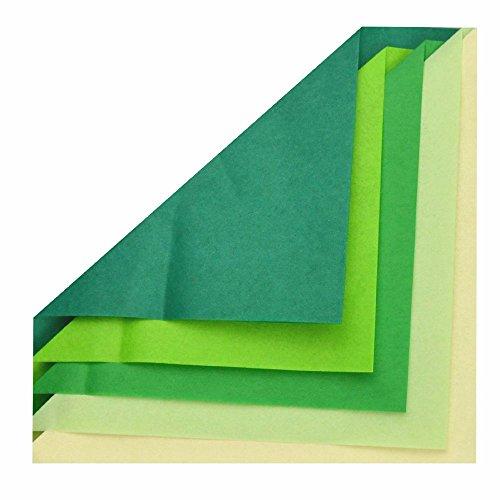 Seidenpapier 20g/qm 50x70 cm creme grün sortiert