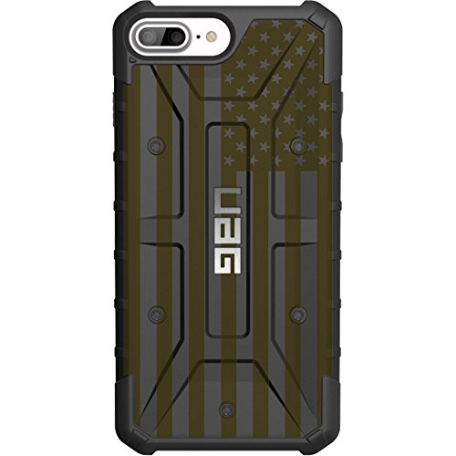 Limited Edition - Authentic UAG Urban Armor Gear Case for Apple iPhone 8 Plus/7 PLUS/6s Plus/ 6 Plus (Larger 5.5') Custom by EGO Tactical- USA Flag ODG- Olive Drab Green