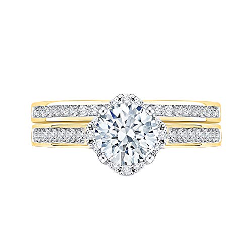 KATARINA 14 quilates oro amarillo round-shape J-K Diamante blanco