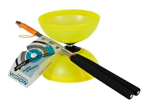 Henrys J0405005 Yo-Yo Diabolo Vision Set, Including Hand Sticks, Yellow