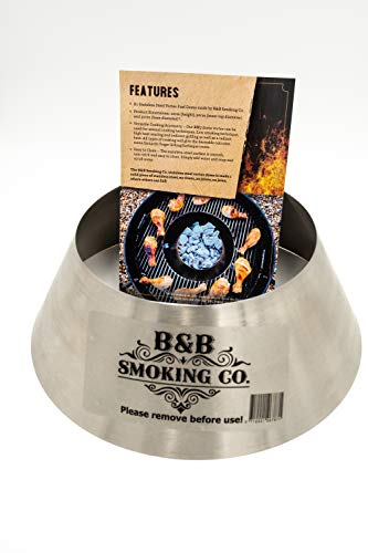 B&B Stainless Steel BBQ Fuel Dome – Compatible with Weber GBS Grates –
