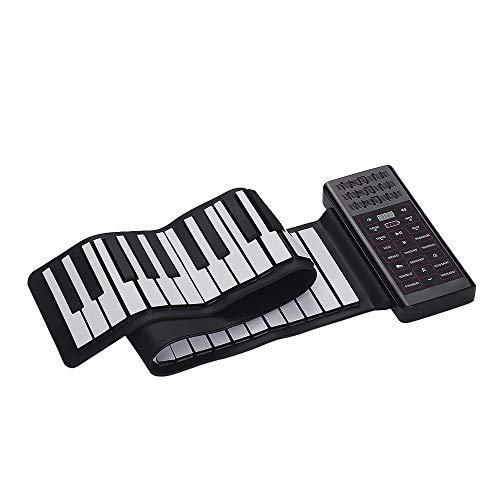 45 brani dimostrativi C3 ~ C8 128 ritmi Pianoforte Standard Portable 61-Keys Roll up Soft Silicone Flessibile elettronico Digitale Music Keyboard Piano Nuovi 61 Tasti 128 Toni