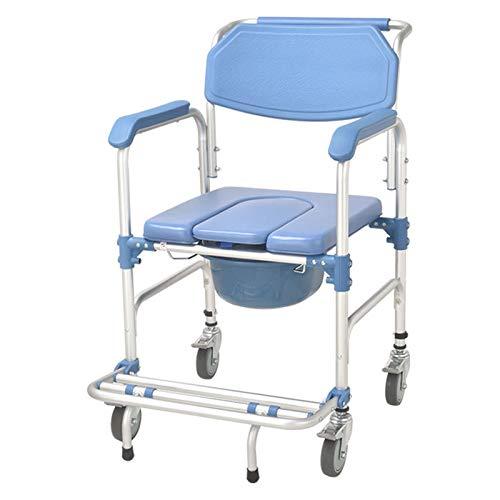 Silla de inodoro para mujeres embarazadas con discapacidad, silla de ruedas para el cuidado del hogar, silla de baño, resistente y práctica/como se muestra/57 x 46 x 90 cm
