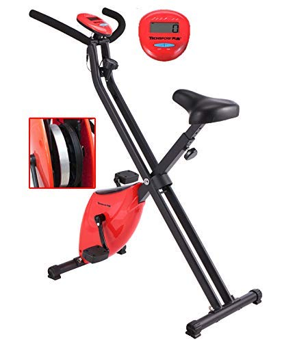AMITD Heimtrainer Klappbar Fahrrad hometrainer mit Trainingscomputer LCD Display 4 kg Schwungrad Spinning Bikes Fahrradtrainer für zuhause