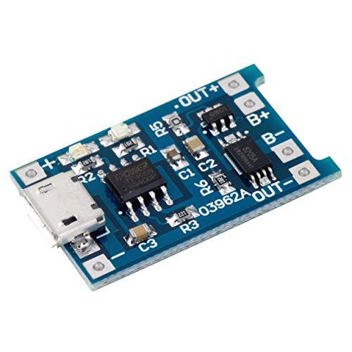 YXDS Módulo de Cargador de Placa de Carga de batería de Litio Micro USB 1A 18650 de 5 V con Nuevo módulo de Cargador de batería Protector