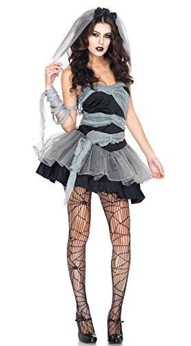 『ハロウィン仮装 花嫁 ゾンビ ホラー 魔女 コスプレ衣装 コスチューム パーティー グッズ (花嫁 ゾンビ)』の1枚目の画像