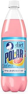 Polar Diet Pink Grapefruit Dry Soda 1 L Plastic Bottles - Pack of 12