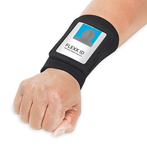 FLEXX ID PRO: Hands Free! - ID/Access Badge Holder with Zipper Pocket [Black] Comfortable Convenient Secure