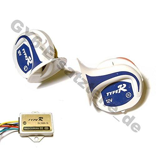 Magic HORN - HUPE voor ROLLER MOFA MOPED QUAD ATV - UNIVERSAL MEHR TON HUPE - 12V 410-510Hz - 16 tonen bijvoorbeeld voor BenzHOU YIYING QINGQI KYMCO LEIKE ROLLER GY6