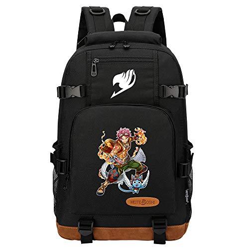 SHU-B Fairy Tail Sling Bag, Bolsa de Pecho con Puerto de Carga USB, Puerto Crossbody para Hombres Mujeres Senderismo Ligero Ciclismo Mochila de Viaje para Acampar,Negro