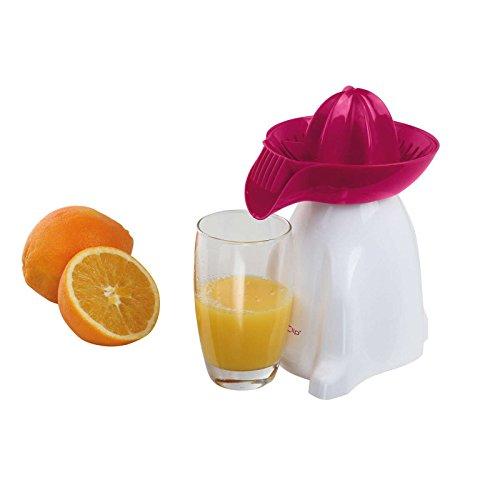 Elektrische Zitruspresse mit Fruchtfleischfilter Orangen Presse (Saftpresse, Ausgießer, Entsafter, 2 Wege Rotation, Pink)