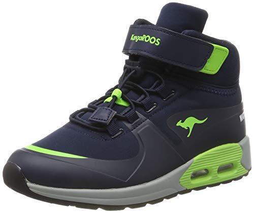 KangaROOS Kanga X Hydro Unisex-Kinder Stiefel, Blau (Dark Navy/Lime 4054), 34 EU