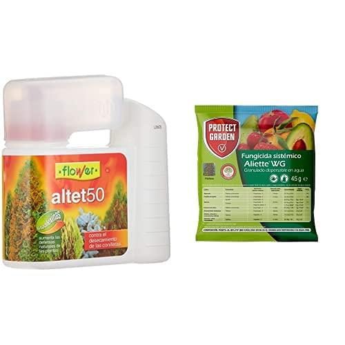 Flower Altet-50 Antidesencante Conifera 400Ml, Único + Fungicida Sistémico Aliette Wg, Ideal para Cesped, Coníferas Y...
