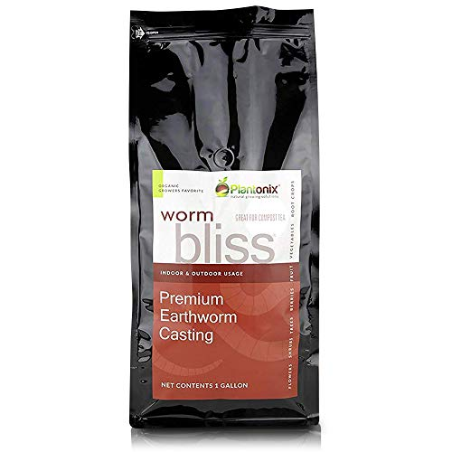 Worm Bliss Premium Vegan & Organic Earthworm Castings, (4 Quart)