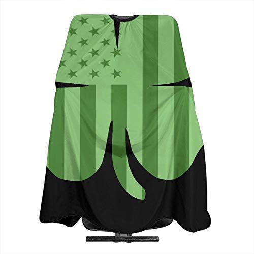 Irische amerikanische Flagge Kleeblatt Friseurschürze Professionelle Salonumhang Friseurwerkzeuge Tuch Haarschneider Lätzchen 5566 Zoll