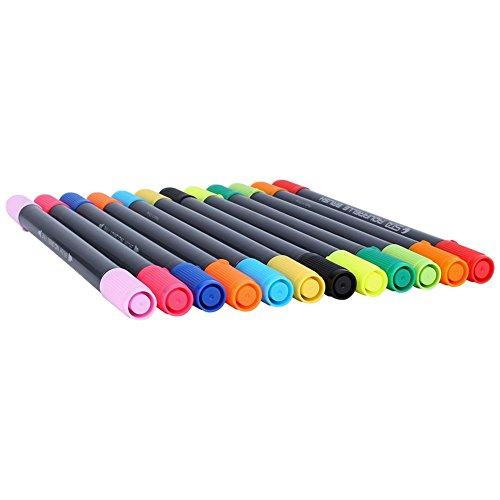 Dual Tip Brush Pens 12 kleuren marker pennen voor aquarel kaart maken Graffiti Art Sketch DIY