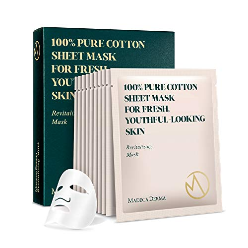 Madeca Derma 10 Pack Revitalizing Mask - Face Mask Sheet Korean Skincare - Hydrating Facial Mask for All Skin Types - Instant Repairing & Moisturizing with Soothing Centella Asiatica - by Dongkook