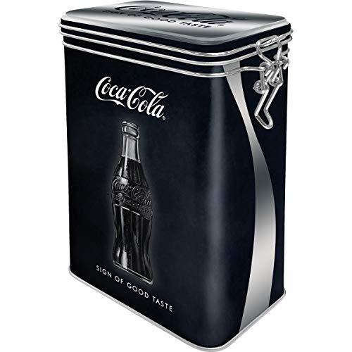 Nostalgic-Art Retro Kaffeedose Coca-Cola – Sign of Good Taste – Geschenk-Idee für Coke-Fans, Blech-Dose mit Aromadeckel, Vintage Design, 1,3 l