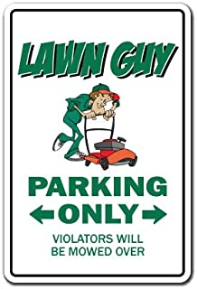 Lawn Guy Decal Parking Mower Parts Grass Seed sod Landscaper Landscaping | Indoor/Outdoor | 12
