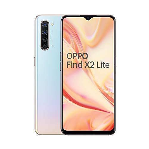 OPPO Find X2 Lite Smartphone , Display 6.4'' AMOLED, 4, Fotocamere,128GB NON Espandibili, RAM 8GB, Batteria 4025mAh, Single Sim, 2020 [Versione italiana], Pearl white