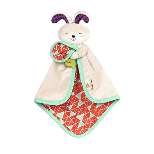 B. Toys – B. Snugglies - Fluffy Bunz The Bunny Security Blanket – Adorable Baby Blankie...