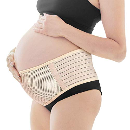 YFGlgy Schwangerschaftsgürtel, Schwangerschaftsstützgürtel, Rückenstützgürtel - Atmungsaktives Bauchband zur Linderung von Hüft-, Becken-, Lenden- und Rückenschmerzen,B