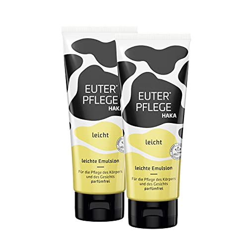 EUTERPFLEGE leicht I 2x200 ml Feuchtigkeitscreme für raue, strapazierte Haut I Sanfte Pflegecreme für trockene Hände und beanspruchte Haut I Ohne Parfum