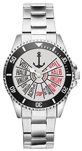 Geschenk für Seemann Seefahrer Kapitän Schiffer Segler Uhr 1164