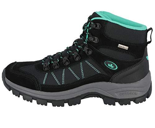 Lico Outdoor- & Trekkingschuh Damen Outdoor- & Trekkingschuh, Schwarz/ Türkis, 40 EU