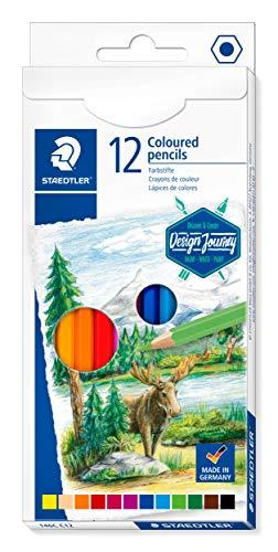 Staedtler Crayons de couleur de haute qualité pour artistes, Mine douce et tendre de 3 mm, Étui carton avec 12 couleurs différentes assorties, 146C C12