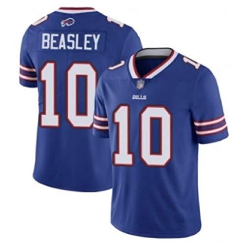 HYQ NFL Bills # 27# 49# 12# 34# 14 Jerseys De Fútbol Bordado, Camisetas De Secado Rápido De Manga Corta para Hombres, Ropa De Entrenamiento De Jugadores, Sudaderas Casuales Azul,#10,S/46
