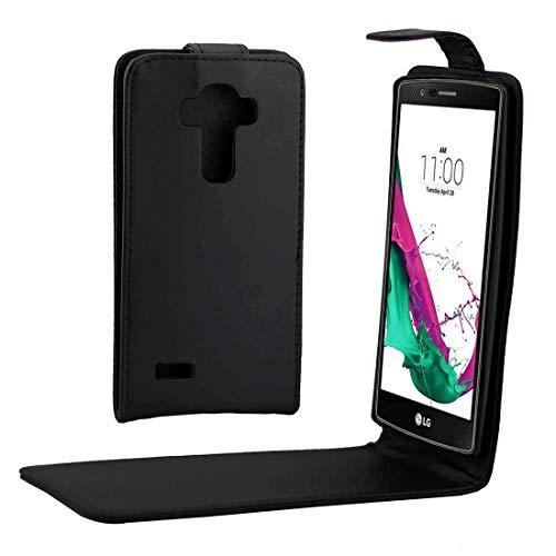 PANGTOU Accesorios del teléfono celular para LG G4 Nappa Textura Vertical Flip Magnético Snap Funda de cuero