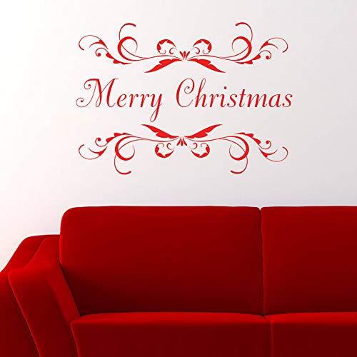 Wandaufkleber Dekorative Aufkleber Wand Dekoration Wandbilder Monogramm Wandkunst Aufkleber Sofa Hintergrund Home Decor Abnehmbare Vinyl-Wandaufkleber Frohe Weihnachten Rahmen Aufkleber Tape