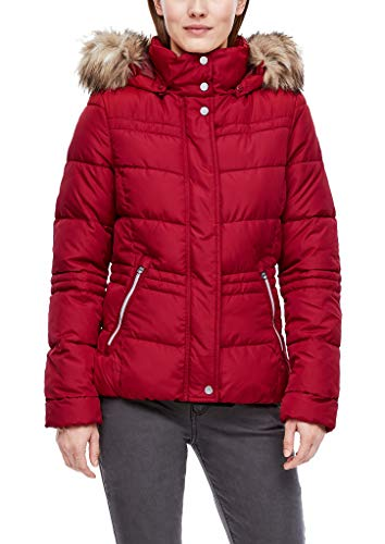 Q/S designed by - s.Oliver Damen Steppjacke mit Fake Fur-Blende brick red XS