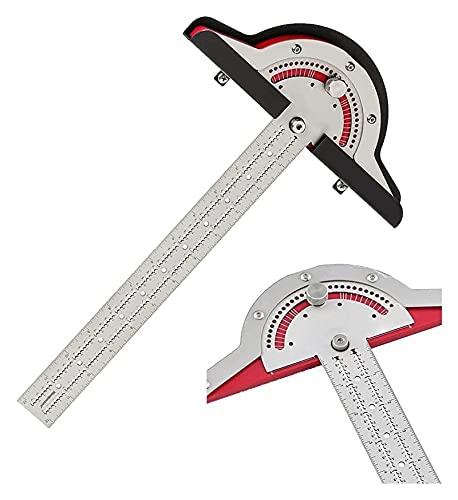 Herramientas de medición Trabajadores de leña Regla de borde 0-70 ° Herramienta de medida de ángulo de cuadrados ajustables, fáciles de elevar para estudiante Dibujo de piedra Craft Toard Crafts Papel