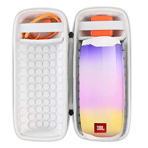 Khanka Hart Tasche Schutzhülle für JBL Pulse 4 Lautsprecher Wasserdicht Bluetooth Speaker Etui Case.(Grau)