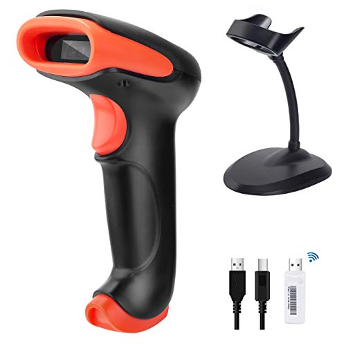Tera 2D Wireless Barcode Scanner 2-in-1 2.4GHz wireless & USB 2.0 Wired 2D...