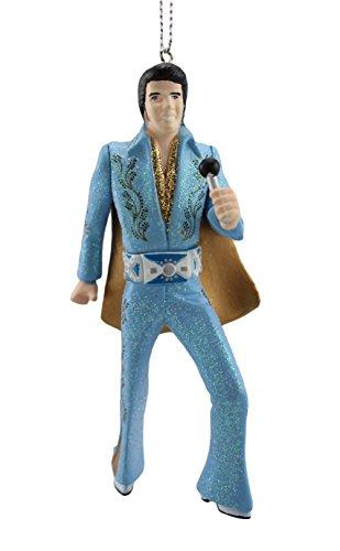 Kurt Adler Elvis in Blue Suit Blow Mold Ornament