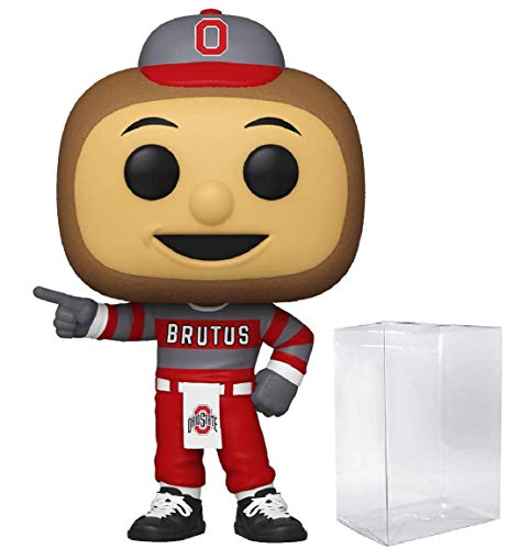 Pop! Mascots: Brutus Ohio State Buckeyes College NCAA Pop Action Figure (Bundled with Pop Shield Protector to Protect Display Box)
