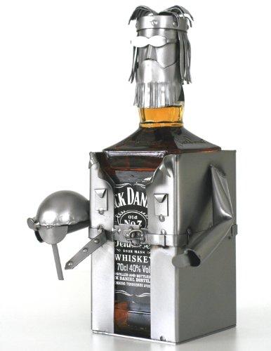 Schraubenmännchen JACKY WHISKEYFLASCHENHALTER - Flaschen- Deko für Jack Daniels - handgefertigte whiskey geschenke - ausgefallene Geschenkidee