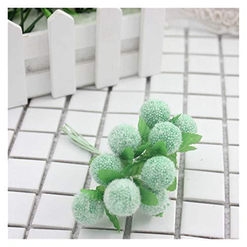 Zxebhsm Künstliche Blumen Gefälschte Blumen DIY handgemachte Girlande Material Candy Farbe Simulation Nette Cartoon PE Schaum Ball Bouquet dekorative accessories10PCS (Farbe : Green)