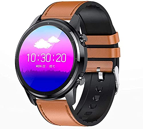 Reloj Inteligente Bluetooth Llamada 1.28 Full Touch Music Player Hombres Deportes Impermeable Fitness Tracker-A