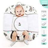 ECORE Baby Sleep Positioner,Premium Quality Infant Safe Sleep Swaddle Blanket,Comfortable Cotton Fabric,User Friendly and Modern Design, Fit Baby Loungers and Pack N Play Mattresses,White