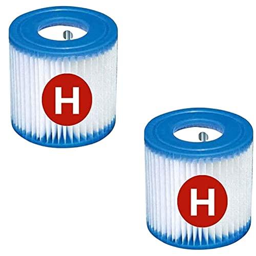Cartucho de filtro tipo H, filtro de piscina para Intex H, filtro de repuesto para piscina tipo H para bombas de filtro 28601 y 28602 (2 unidades)