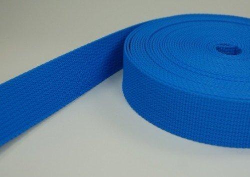 10m PP Gurtband - 25mm breit - 1,8mm stark - blau (UV)