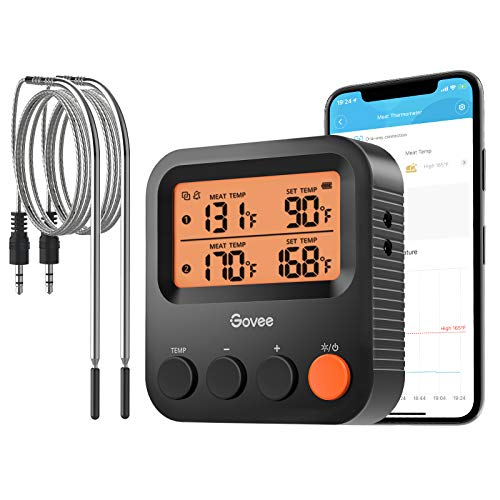 Govee Bluetooth Meat Thermometer, Wireless Grill Thermometer with 2 Probes, 230ft Remote Monitor,...