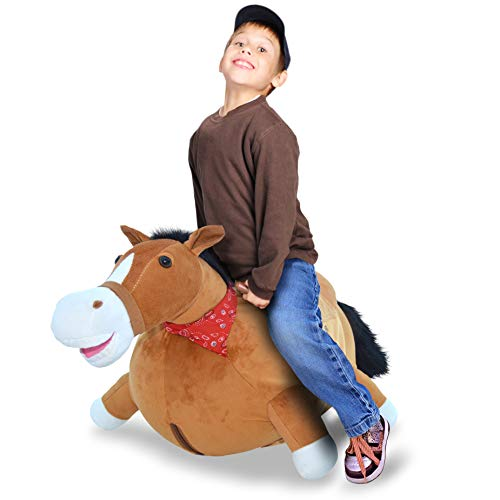 WALIKI Toys Large Size Bouncy Horse Hopper (Hopping Horse, Inflatable Ride-On Pony, Ridding Horse for Kids, Jumping Horse, Pump Included, Same Size As Rody Max)